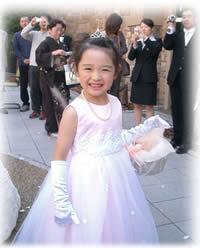 フラワーガール用ドレス