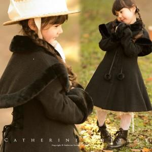 子供ドレスに合わせたコート