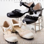 レースリボン靴