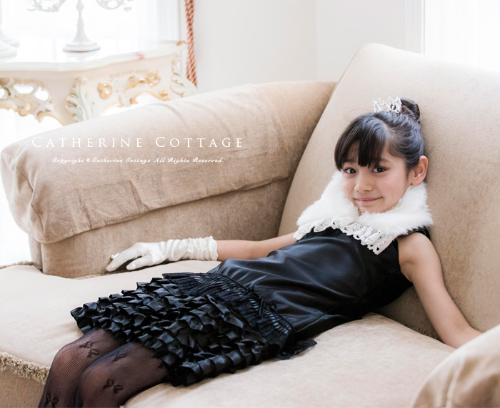 子供ドレスにぴったりファーティペット