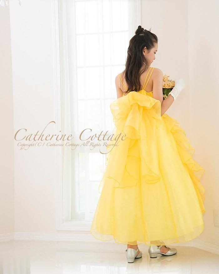 4adb69b09420a 幾重にも重ねられたオーガンジーのドレープがゴージャスな主役級ドレス! バックスタイルもオーガンジーを2枚重ねた幅広リボンを結べば、360度可憐で華やか なドレス ...