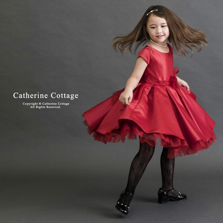 c9c2f1006e88e ウエストには大きなリボン、そしてバックスタイルはオーガンジーのリボン結びで軽やかに。裾から除く赤いチュールもとってもキュート! シンプルながらに完璧な ドレス ...